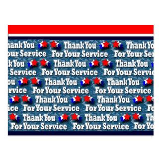 Danke für Ihren Service Postkarte