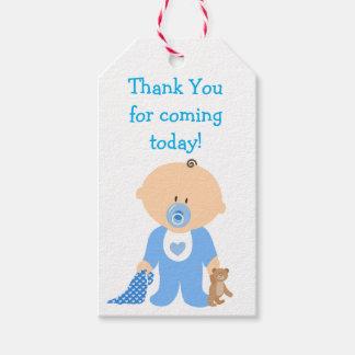 Danke für kommenden blauen geschenkanhänger