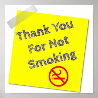 Danke für nicht rauchendes Plakat