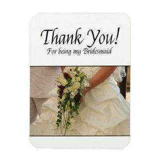 Danke für Sein meine Brautjungfer Flexible Magnete