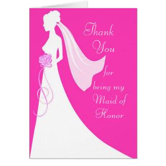 Danke für Sein meine Trauzeugin - Rosa Mitteilungskarte