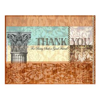 Danke für Sein solch ein guter Freund - Postkarte