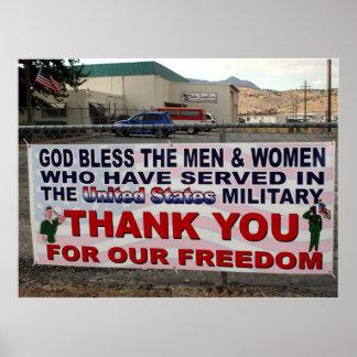 Danke für unsere Freiheit Plakatdrucke