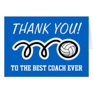 Danke, für Volleyballtrainer kundengerechtes | zu Grußkarte