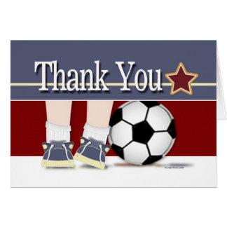 Danke Fußball-Karten-Schablone Karte