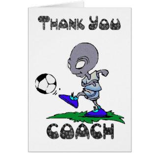 Danke Fußball-Trainer, Fußball-Trainer Grußkarte