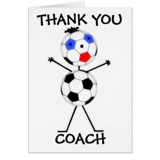 Danke Fußball-Trainer Grußkarte