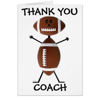 Danke Fußball-Trainer Karte