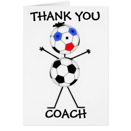 Danke Fußball-Trainer Karten