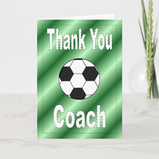 Danke Fußball-Trainer-Karte | Zazzle.de