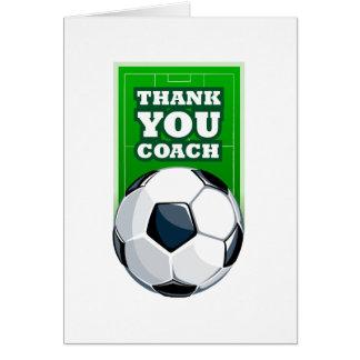danke Fußballtrainer Grußkarte