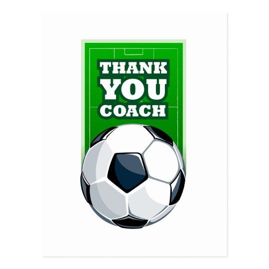 danke Fußballtrainer Postkarte | Zazzle.de