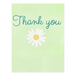 Danke Gänseblümchen Postkarte
