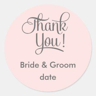 Danke Gastgeschenk Hochzeitsaufkleber Runder Aufkleber