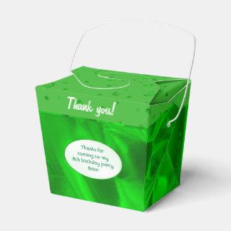 """""""Danke"""" Geburtstags-grüner strukturierter Geschenkschachtel"""