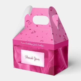 """Danke"" Geburtstags-pinkfarbener strukturierter Geschenkschachtel"