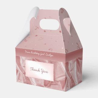 """Danke"" Geburtstags-rosa strukturierter Geschenkschachtel"