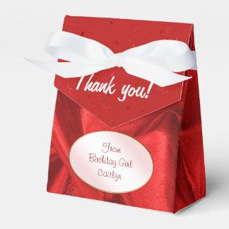 """Danke"" Geburtstags-roter strukturierter Geschenkschachtel"