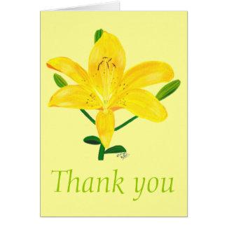 Danke, gelbe Lilie, Hochzeitskarten Grußkarte