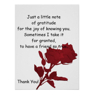 Danke Geschenk - Plakat-Vers Poster