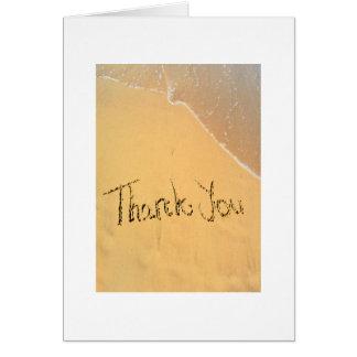 Danke geschrieben in Sand am Strand Karte
