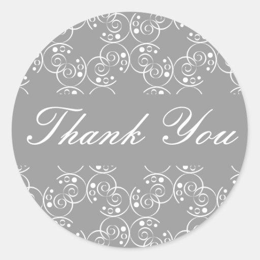 Danke gewundenes Wirbels-Umschlag-Aufkleber-Siegel