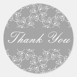 Danke gewundenes Wirbels-Umschlag-Aufkleber-Siegel Runder Aufkleber