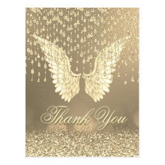 Danke | Goldengels-Risse Postkarte