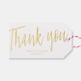 """""""Danke"""" Goldkalligraphie-Gastgeschenk Geschenkanhänger"""