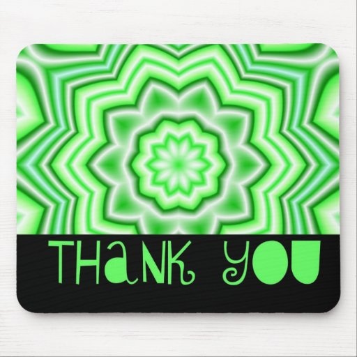 Danke grün mousepad