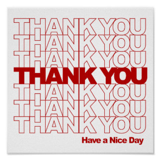 Danke! Haben Sie einen schönen Tag! Poster
