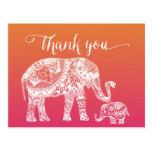 Danke - Hennastrauch-Elefant Postkarten