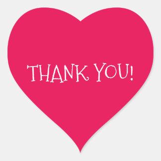 Danke Herz-Förmiger Aufkleber