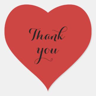 Danke Herzaufkleber Herz-Aufkleber