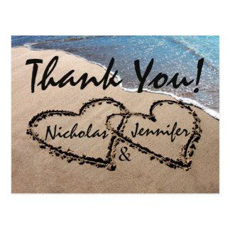 Danke Herzen in der Postkarten