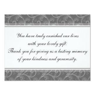 Danke Hochzeits-Karten-graues viktorianisches 10,8 X 14 Cm Einladungskarte