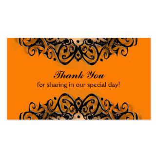 Danke Hochzeits-Karten - Halloween-Liebe Visitenkarten