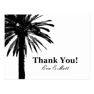 Danke Hochzeitskarten mit Palmebild Postkarte