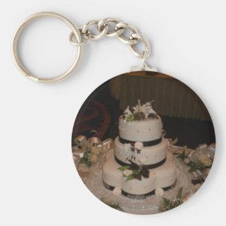 Danke Hochzeitstorte Standard Runder Schlüsselanhänger