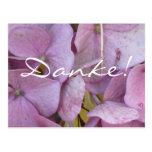 Danke! (Hortensia (pink)) - Postkarte