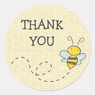 Danke Hummel-Bienen-Aufkleber Runder Aufkleber