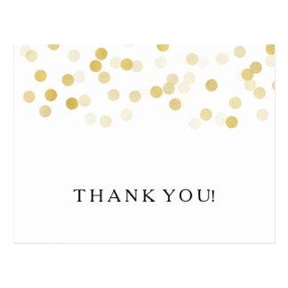 Danke, Imitat-Goldfolien-Glitter-Lichter zu merken Postkarte