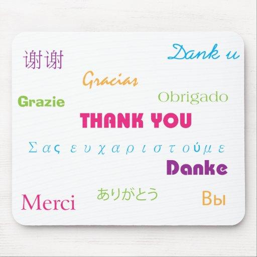 Danke in vielen Sprachen Mousepad