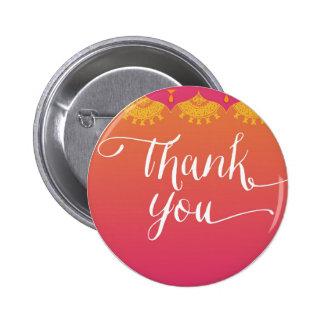 danke - indische Inspiration Runder Button 5,1 Cm