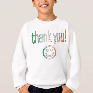 Danke! Irland-Flaggen-Farben Sweatshirt