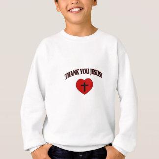 Danke Jesus (Herz) Sweatshirt