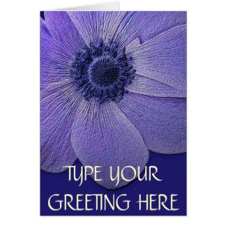Danke kardiert blaue Blumen-kundenspezifische Gruß Grußkarte