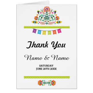 Danke kardiert gefaltete die Brautfiesta-Hochzeit Karte