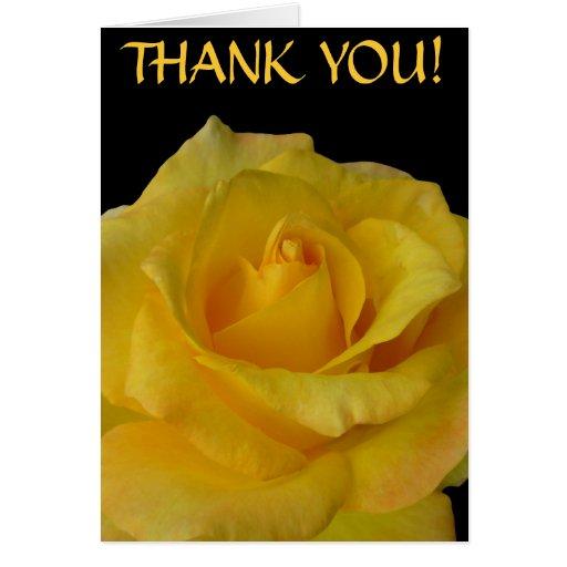 Danke kardiert gelbe Blumen-kundenspezifische Gruß Karten