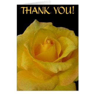 Danke kardiert gelbe Blumen-kundenspezifische Gruß Grußkarte